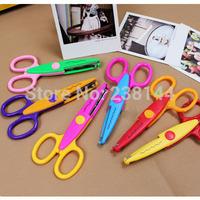 Wholesale Diy Kraft style Edgers Decorative Album Lace Scissors Photo/Card Pattern Cutting Scissors Random color and graphics