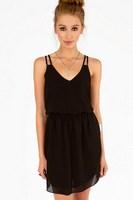 Free shipping Summer new double harness chiffon sleeveless dress skirt in Europe and America  XS-XXL