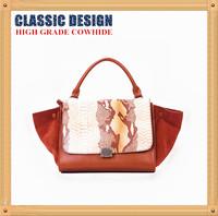 Special Offer Asia Fashion Brand Design Color Matching Handbag,Casual Snakeskin Pattern High Grade Cowhide Shoulder Bag B120