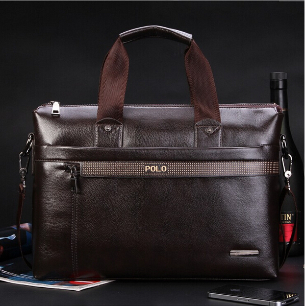 Big discount Silt Pocket Zipper Totes men's Shoulder Bag Casual Cowhide Man Commercial Handbag Messenger Briefcase Free Shipping(China (Mainland))
