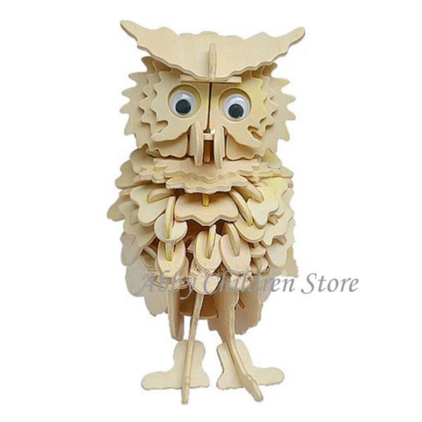 Пазл 3D DIY & 3D owl пазл zhilebang z b188 2014 3d diy