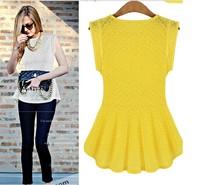 2014 New summer women blouses& shirts sleeveless ladies lace blouse clearance plus size transparent Blouse vintage tops