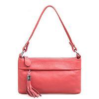 European and American style Soft Elegant Natural Cowskin handbag Luxury genuine leather women messenger bags Large clutch bag