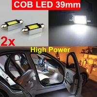 2pcs 6000K White High Power 39mm COB Led SMD Car Dome Map Interior license plate Light Bulb 6418 3425 6411 C5W 39mm Festoon Lamp