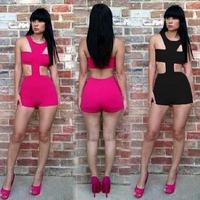 2014 new plus size hot summer dress women clothing sexy cutout dew chest long sleeve slim hip bandage bodycon dress