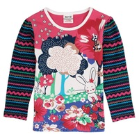 FREE SHIPPING F4908# 18m-6y 5piece/lot printed lovely bird spring / autumn  long sleeve T-shirt for girl