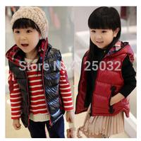 Girl Vest Brand new 2014 girls Children's clothing autumn & winter girl soft jacket the down coat for girls winter kids clothing
