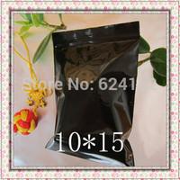 10 * 15 cm  0.13mm thick black ziplock bags zipper bag sealed pocket dark no transparent packing 100pcs/lot