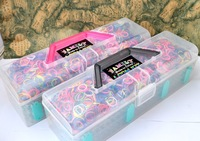 Deluxe Magic Loom Kit 2014 Hot Selling Transparent  Rubber  Loom Bands kit