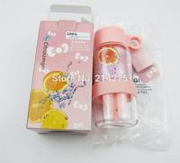 Free shipping Children creative Citrus suckpipe child kid zinger lemon cup glass vitality bottle juice cup 2 pcs per lot