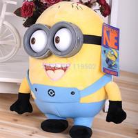Creative Minions 3D eyes yellow doll soybeans doll plush toys+Free shippment