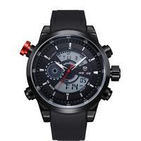 WEIDE Military Watch Army Diver Men's Sport Silicone Strap Watch Calendar Luxury Brand LCD Back Light Wristwatch 1 year warranty