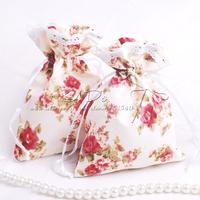 Free Shipping 100pcs Floral Theme Wedding Favor Pouch/Candy Box/Favor Box/Favor Bag