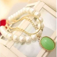 Fashion Small accessories small accessories multi-layer chain pearl pendant bracelet jewelry  BR-004