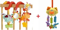 Multifunctional Animals Lathe Bed Hang Baby Toy+Brand Cat Clip Clop Stroller Toy Baby Bed Bell Hanging V002