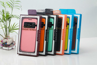 Sleep Wake-up Function Call Display Leather Case with Holder for samsung Galaxy S4 Free Shipping