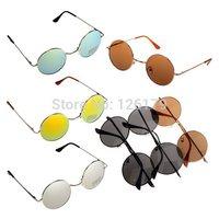Unisex Hippie Shades Hippy 60S John Lennon Style Vintage Round Peace Sunglasses