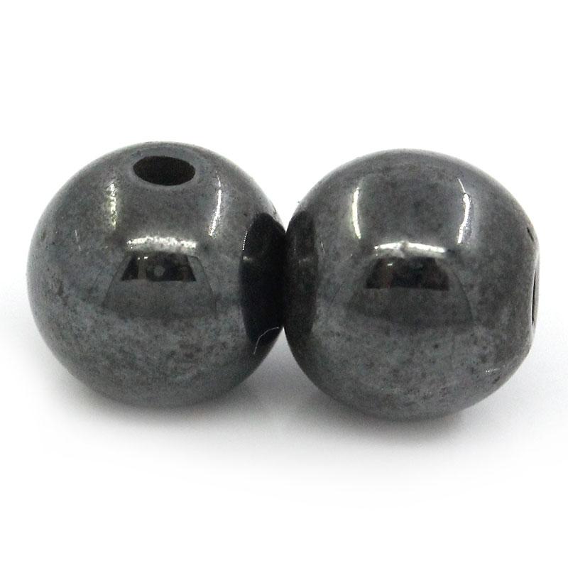 100Pcs Round Magnetic Hematite Beads 6mm (Over $100 Free Express)(China (Mainland))