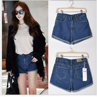 M&C S409 Denim shorts 2014 women summer high waist jeans plus size jeans shorts