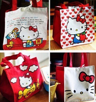2x Cute Hello Kitty Lunch Bag/Picnic Bag Lovely Cartoon Package Free Ship