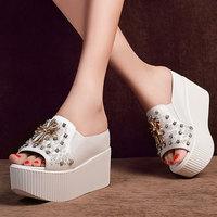 Ladies Platform Shoes Sandals Rhinestone Girl Fashion Platform Shoes LK-A1507