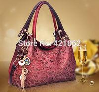 2014 New Hot Sales Fashion Women's Retro Hollow Out Handbag Female Elegant PU Messenger Bag Lady Tote Shoulder Bag Sling Bag
