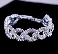 2014 Brand New Fashion Jewelry,Rhinestone Silver Plated Bracelet,Bead Trendy Bracelet,Exquisite Hand Chain,Free Shipping BG-35