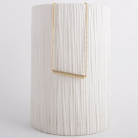 Min 1pc Hot Selling Strip Necklace 18K Gold silver Square Bar Necklace XL010