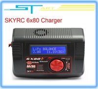 SKYRC 6X80+ 1-6S AC/DC Charger Discharger  80W 10AMP Charger Bluetooth Version for Lipo Lithium Battery RC Car low shipping