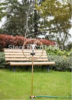 stainless solar energy Gardening spray nozzle rotate 360 degrees Garden sprinkler automatically Garden decoration