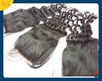 Peruvian Virgin Hair Loose Wave Closure Lace Closure 4x4 Middle 3 Way Part Bleached Knots Juliet Hair Top Closure