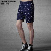 2014 spring and summer dot male casual shorts m19002