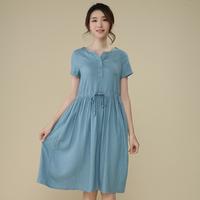 summer women's  dress female medium-long dress cotton