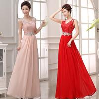 Women's  dress 2014 design bridesmaid PARTY  long dress bridal wear fashion slim  dress free shipping