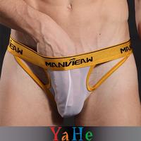 Gay Underwear Sexy Transparent Briefs Men Sport Shorts Quick Dry Tight Cotton Underpants Fashion Modal Brand Panties