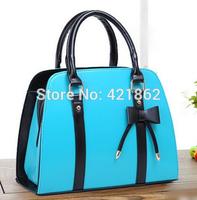 2014 New Hot Sales Fashion Women's Bowknot Handbag Female Elegant PU Messenger Bag Lady Shoulder Bag Sling Bag