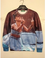 2014 men and women 3d Sweatshirts EGOKILLZ rihanna we found love Middle finger fuck you Printed Sweatshirts top 3d Hoodies