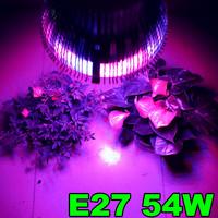 1X Wholesale Led Plant light 54W E27 Led Hydroponic Plant Flowers Vegatables Green Led Grow Lights Plant Growing Lamp
