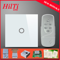 China Hilti EU Standard Waterproof&Fireproof Tempered Glass Panel,1Gang Remote Control Touch Switch,AC110-240V,CE Approved
