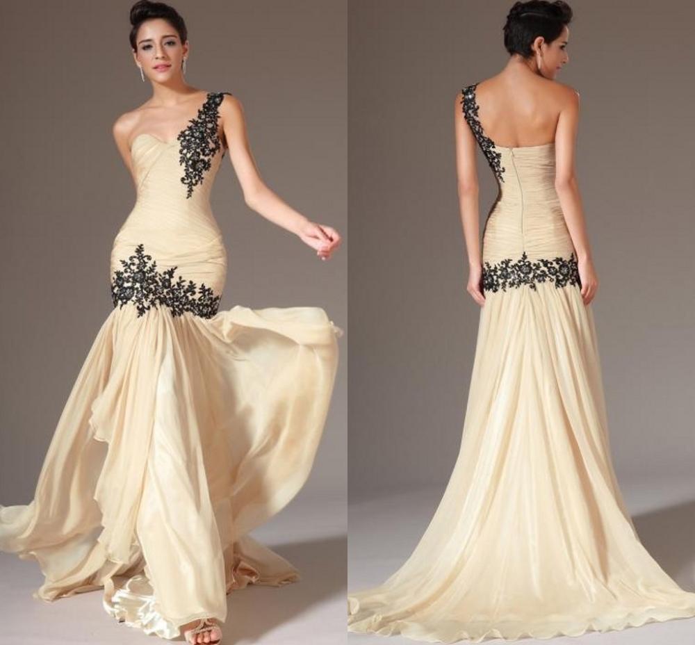 Popular cream colored prom dress aliexpress for Simple cream colored wedding dresses