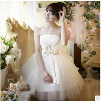 2014 NEW Women's Fashion Short Length Chiffon Evening Dress Club Party Prom Gown  princess  dress Free Shipping