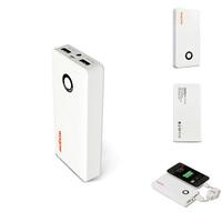 Original WOPOW E10000 PC LED Flashlight Intelligent Protection Dual USB Polymer Power Bank 10000mAH  for MobilePhone PAD