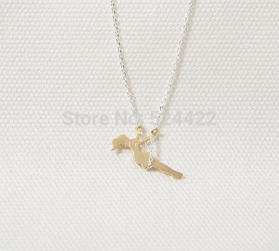 Romantik altın gümüş güzel kız salıncak kolye