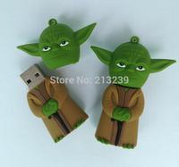 New Cartoon Star wars yoda usb 2.0 memory flash stick pendrive genuine 4gb/8gb/16gb/32gb Freeshipping