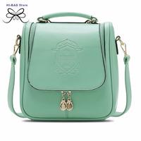 2014 new lady pretty style korean vintage women messenger bag fresh cute students bag for girl collegue shoulder bag