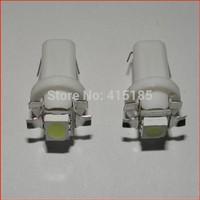 Free Shipping 6pcs T5 b8.5d LED lamp car led  20lumen 5050 1 SMD Speedo Dashboard Dash Side Light Bulb White,Red,Blue