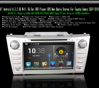 "8"" Android 4.2.2 OS Wifi 3G Car DVD Player GPS Nav Radio Stereo For Toyota Camry 2007-2010 Free Shipping"