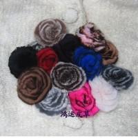 Multifunctional gadgets dish flower brooch/cap/pin/sweater buckle Rabbit hair hand plate cost Fur corsage, , garment accessories