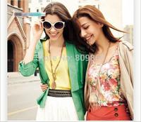 wholesale 2014 women  Loose wavy edge vest bottoming shirt big size blouses 15 colors s-L