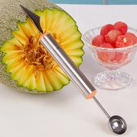 Stainless steel dual fruit slicer watermelon ball spoon ice cream baller fruit platter carving knives